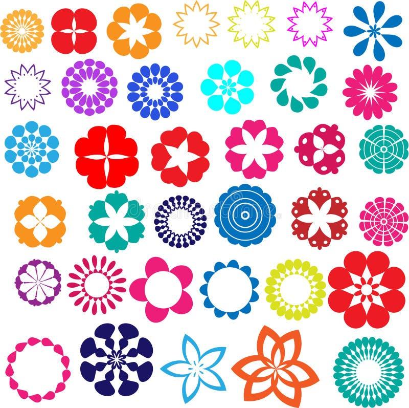 Diseños de la flor fotos de archivo