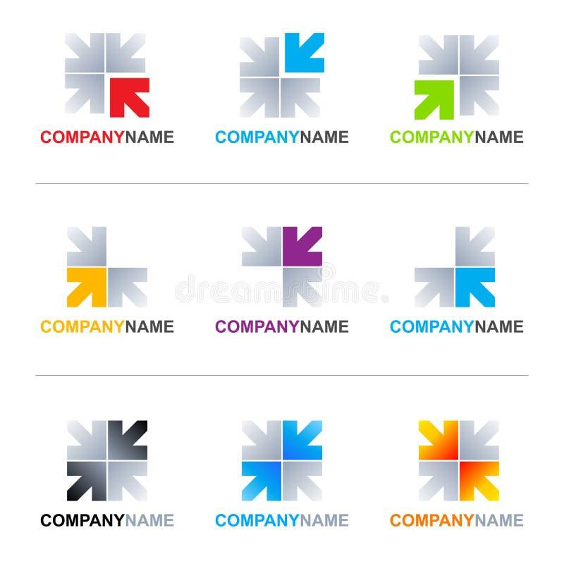 Diseños de la insignia de las flechas stock de ilustración