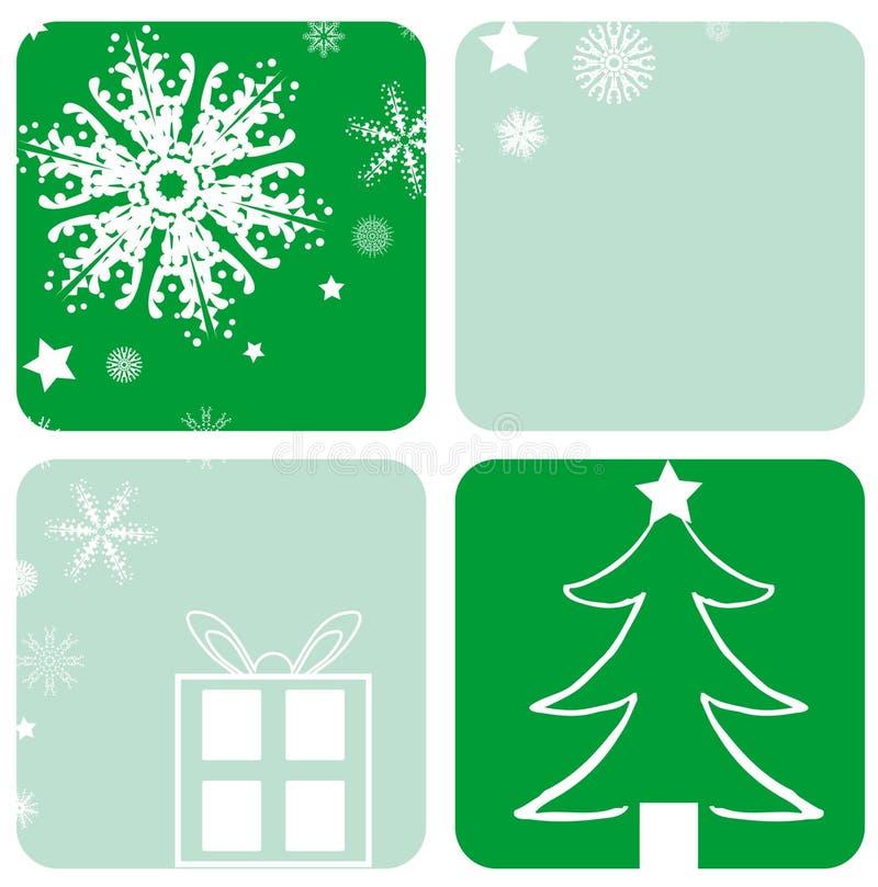 Diseños de la Navidad ilustración del vector