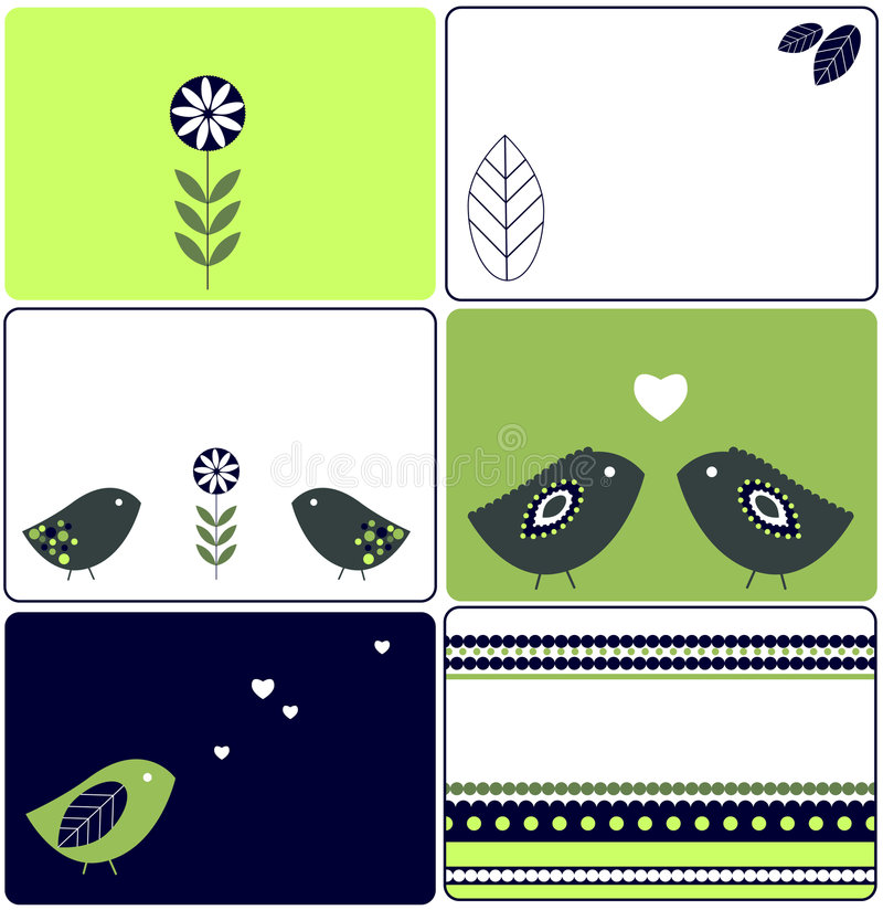 Diseños de los pájaros
