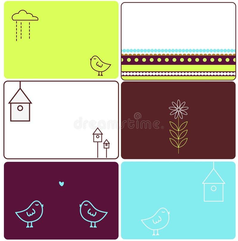 Diseños de los pájaros del amor ilustración del vector