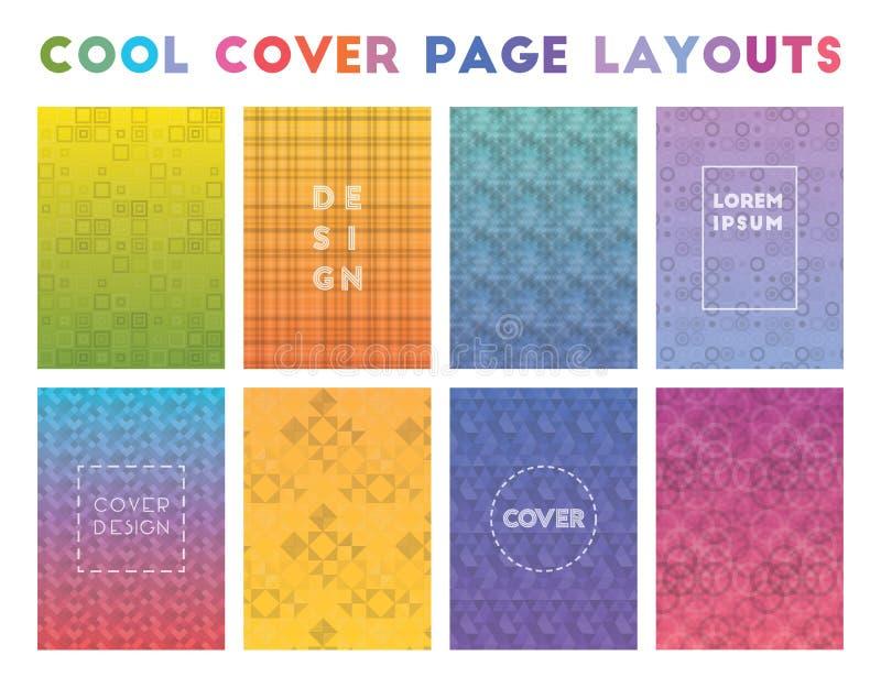 Diseños de página frescos de la cubierta stock de ilustración