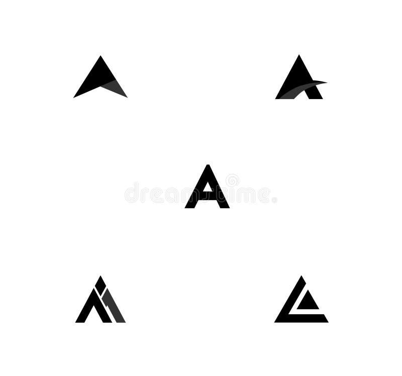 Diseños de una letra fotografía de archivo