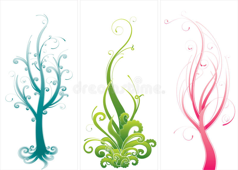 Diseños del árbol ilustración del vector
