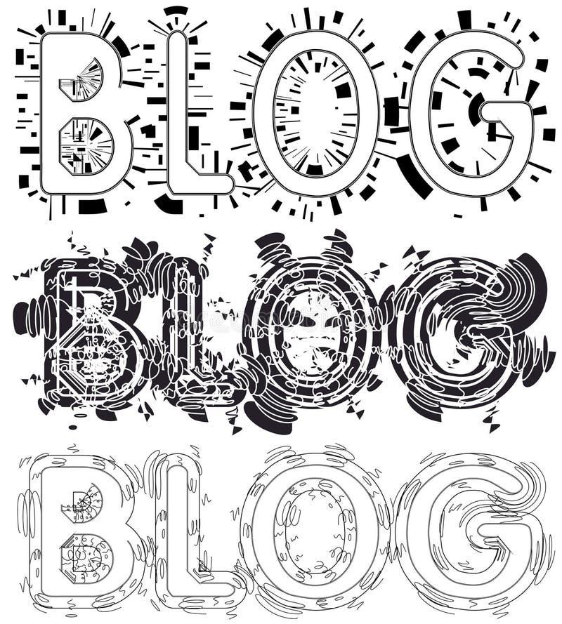 Diseños del blog ilustración del vector