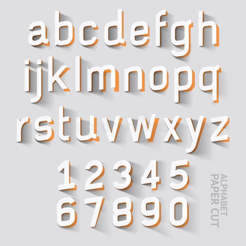 Diseños del corte del papel del alfabeto Vector libre illustration