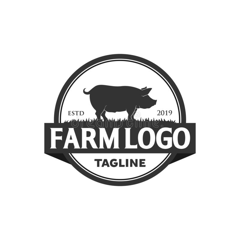 Diseños del logotipo del cerdo libre illustration