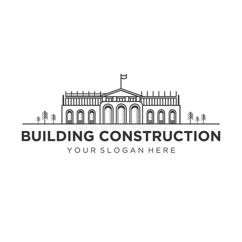 Diseños del logotipo de la construcción de edificios stock de ilustración