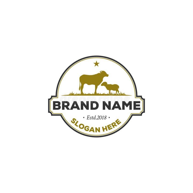 Diseños del logotipo de la granja, logotipo del vintage ilustración del vector