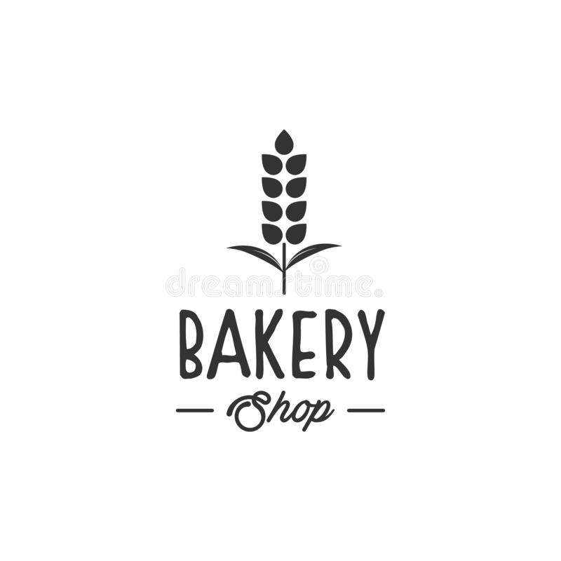Diseños del logotipo de la panadería, tipo moderno del logotipo stock de ilustración