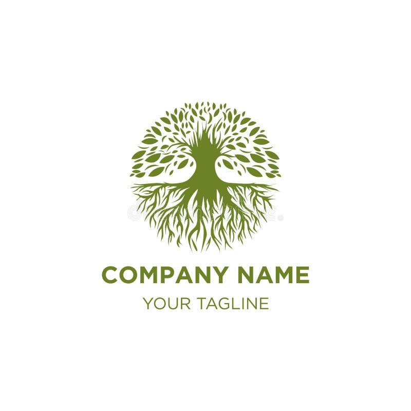 Diseños del logotipo de los árboles, ejemplo del vector stock de ilustración