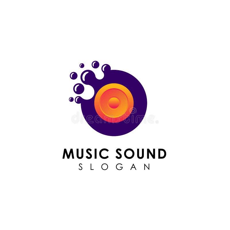 diseños del logotipo de los sonidos de la música de los puntos ilustración del vector
