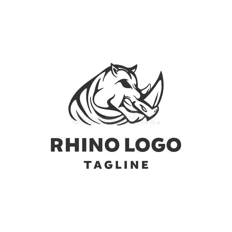 Diseños del logotipo del rinoceronte, fauna animal libre illustration