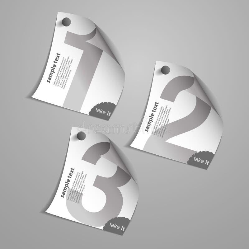Diseños del papel del cuaderno con números libre illustration