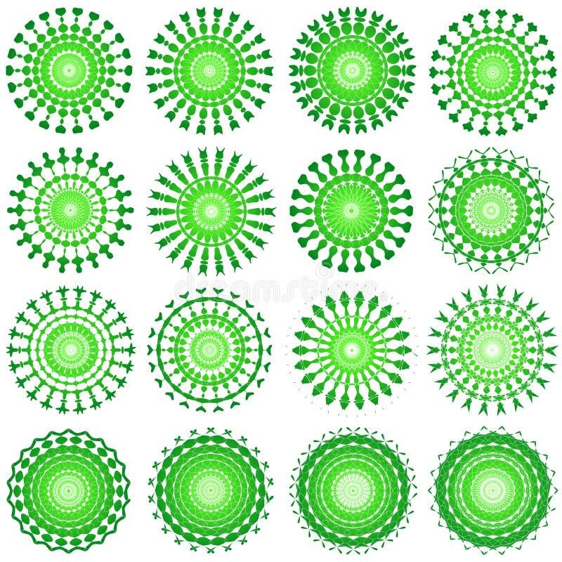 Diseños del verde ilustración del vector