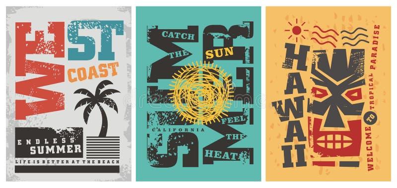 Diseños gráficos de la camiseta del verano libre illustration