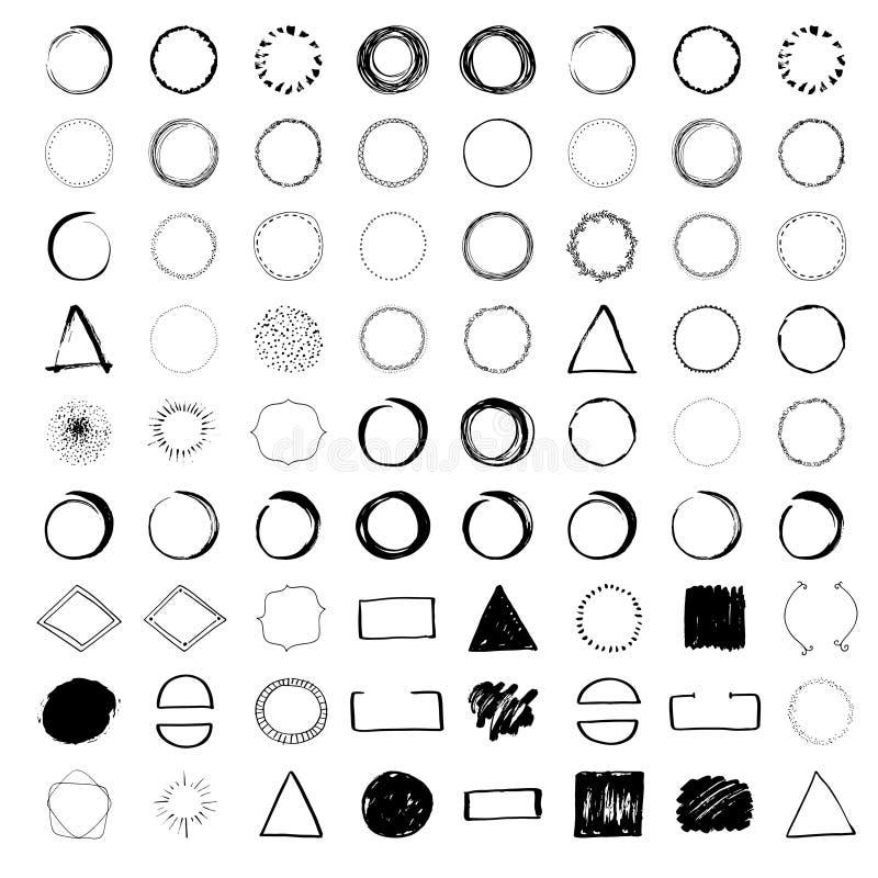 Diseños Handdrawn del logotipo ilustración del vector