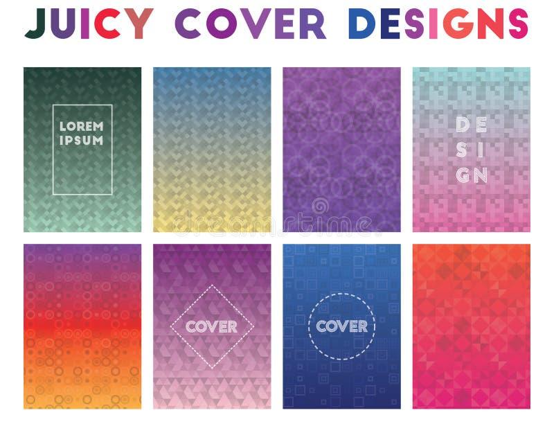 Diseños jugosos de la cubierta stock de ilustración