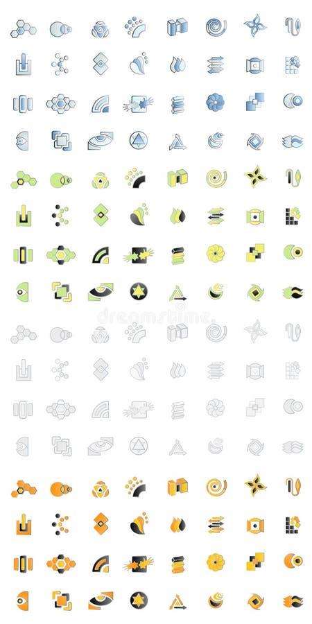 Diseños modernos de la insignia stock de ilustración