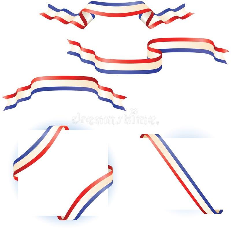 Diseños patrióticos de la envoltura de la bandera y del borde stock de ilustración