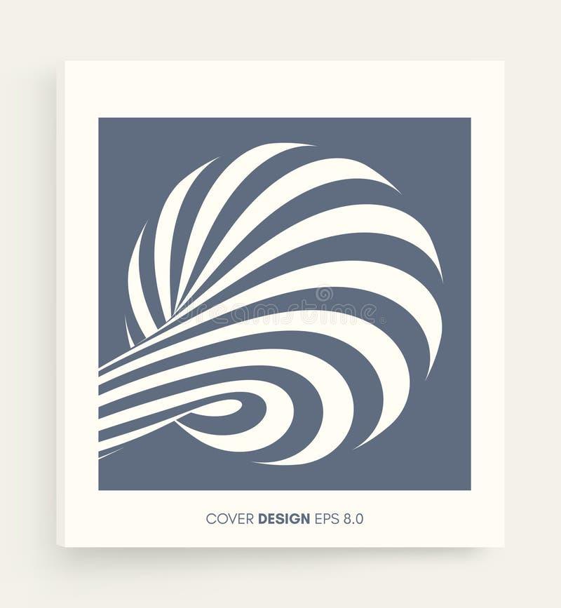 Dise?o blanco y negro Modelo con la ilusi?n ?ptica Fondo geom?trico abstracto 3d Ilustraci?n del vector stock de ilustración