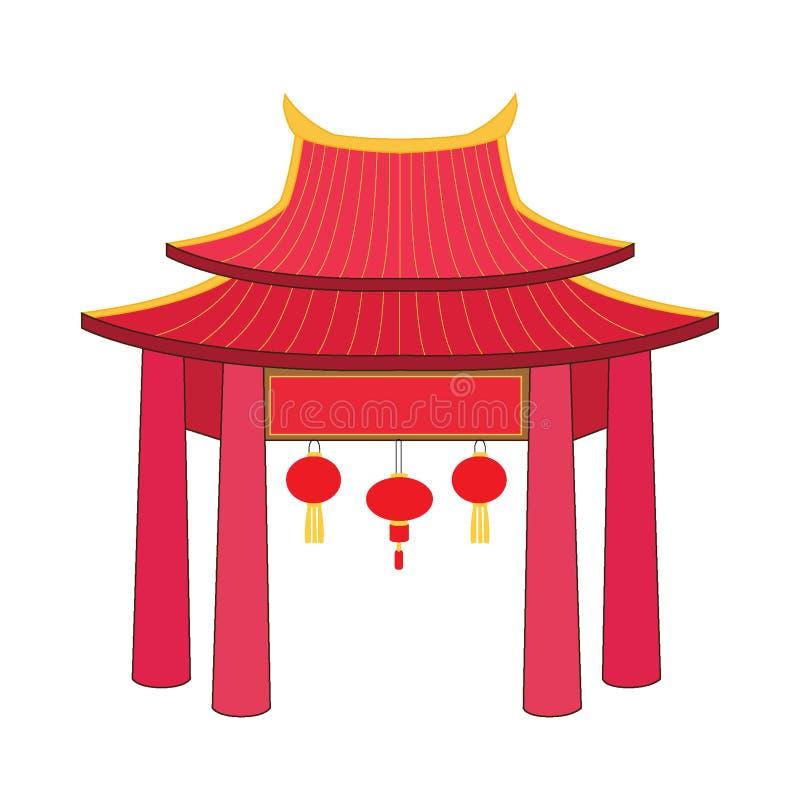 Dise?o de China de la fachada de la puerta ilustración del vector