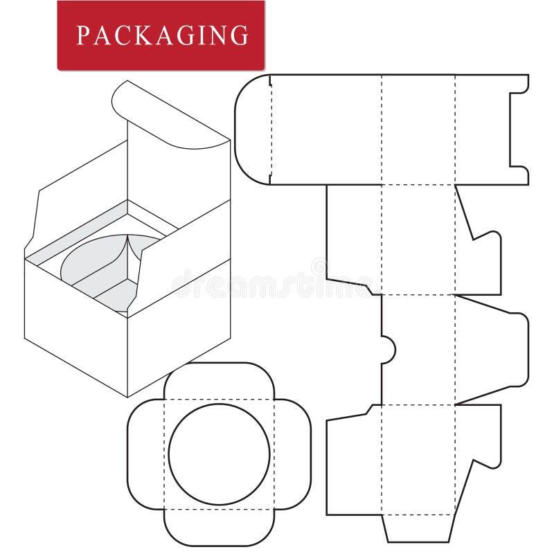 Dise?o de empaquetado Ejemplo del vector de la caja plantilla del paquete o libre illustration