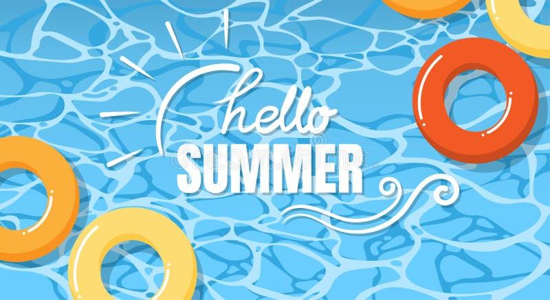 Dise?o de la bandera de las vacaciones de verano ilustración del vector