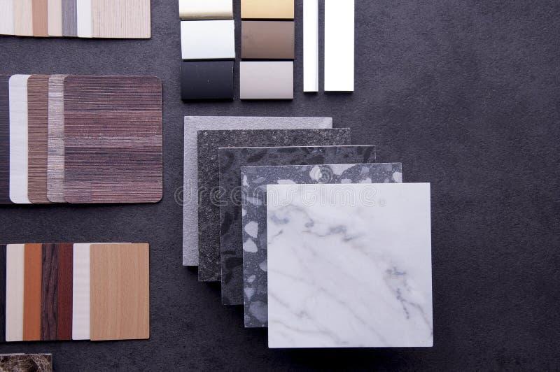 Dise?o de la construcci?n Concepto de diseño material interior Muestras de piso de madera de la textura de baldosa de la lamina y fotos de archivo