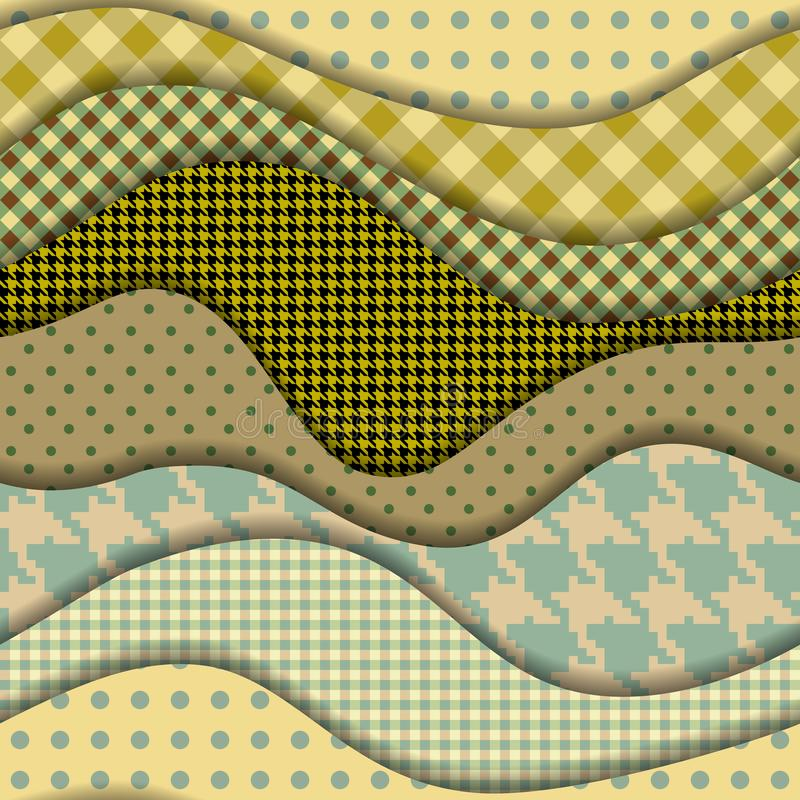 Dise?o de las formas del corte del papel Modelo incons?til del vector ilustración del vector