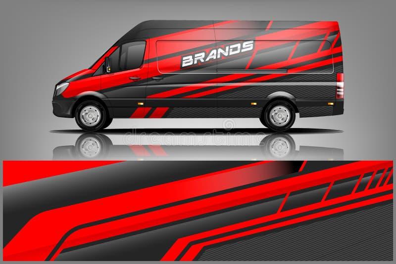 Dise?o de Van car Wrap para la compa??a libre illustration