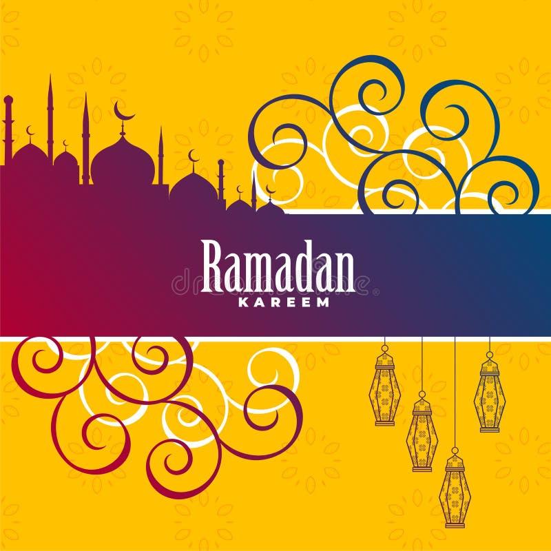 Dise?o decorativo del fondo de Ramadan Kareem libre illustration