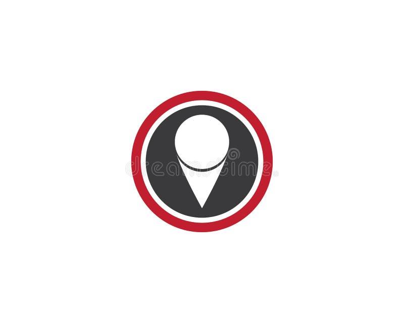 Dise?o del ejemplo del icono del vector de la plantilla del logotipo del punto de la ubicaci?n stock de ilustración