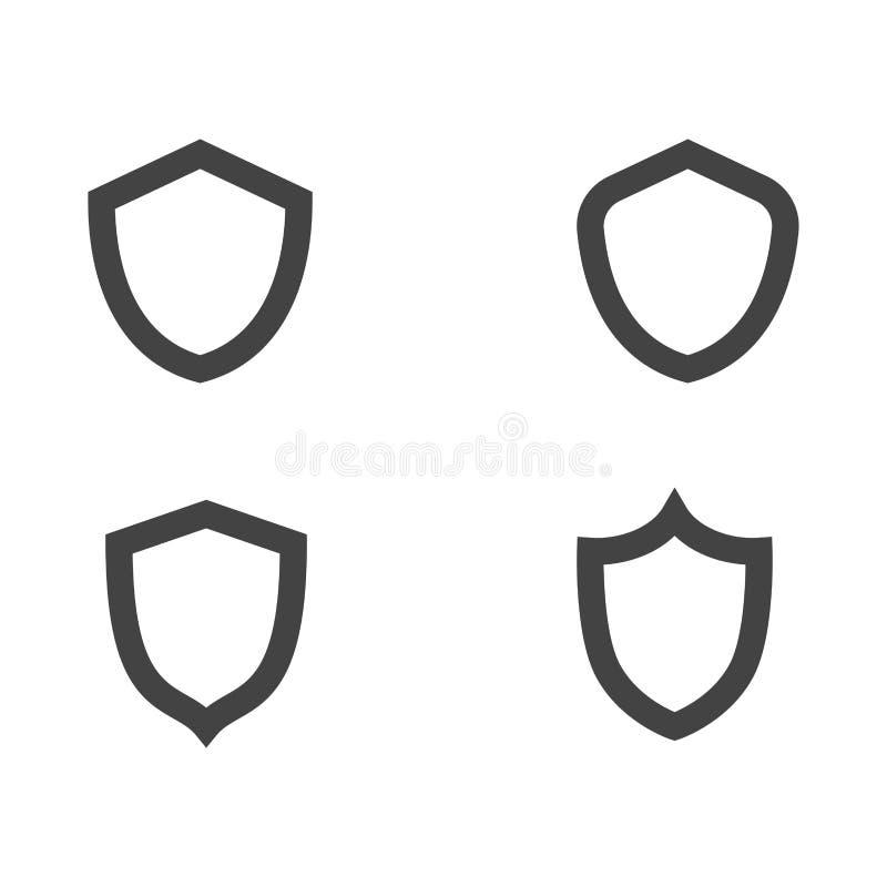 dise?o del ejemplo del vector del escudo stock de ilustración
