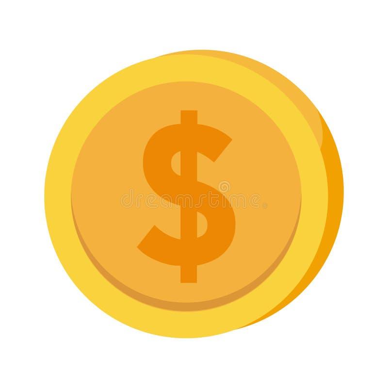 Dise?o del icono de la moneda ilustración del vector