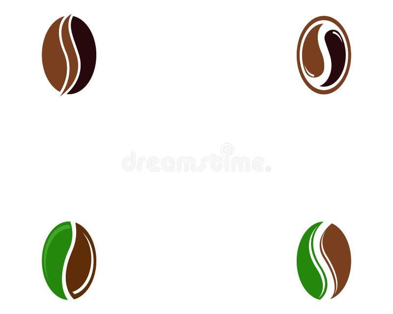 Dise?o del icono del vector de Logo Template de los granos de caf? stock de ilustración