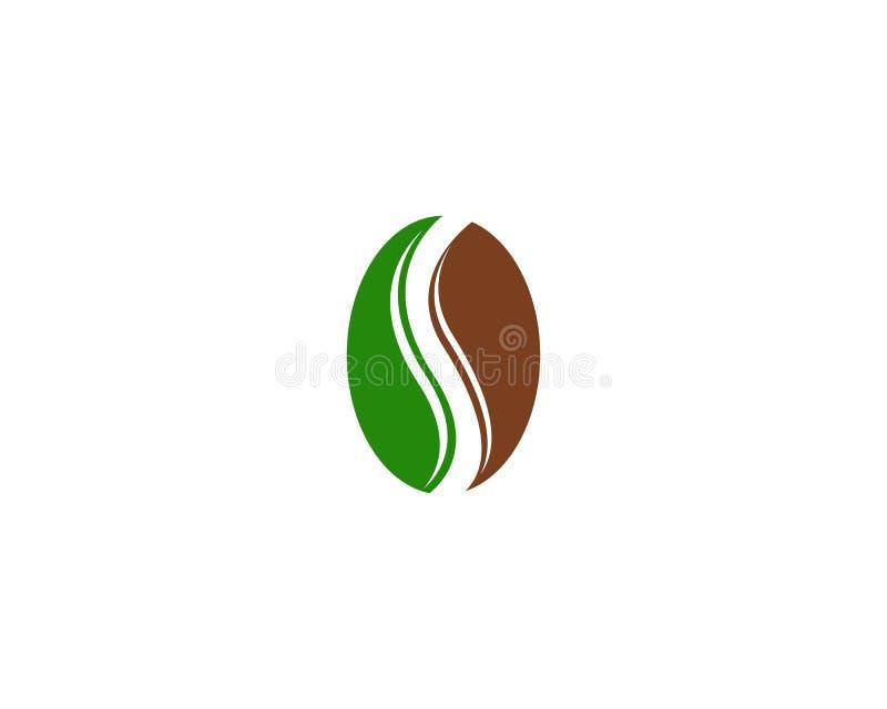 Dise?o del icono del vector de Logo Template de los granos de caf? ilustración del vector