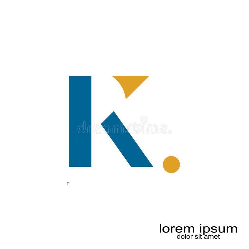 Dise?o del logotipo de la letra de K stock de ilustración