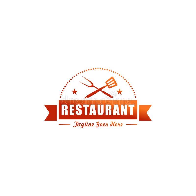 Dise?o del logotipo del restaurante stock de ilustración