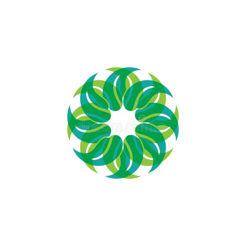 Dise?o del logotipo del vector de la hoja del ?rbol, concepto respetuoso del medio ambiente stock de ilustración