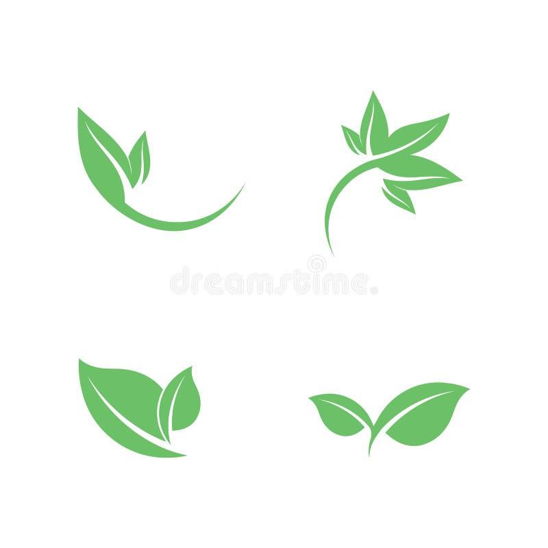 Dise?o del logotipo del vector de la hoja del ?rbol, concepto respetuoso del medio ambiente ilustración del vector