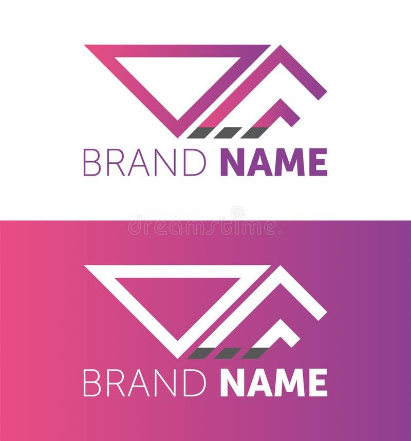 Dise?o del logotipo del vector su diseño de la marca logotipo de diseño creativo stock de ilustración