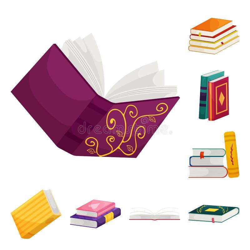 Dise?o del vector de icono de la biblioteca y de la librer?a Colecci?n de s?mbolo com?n de la biblioteca y de la literatura para  stock de ilustración