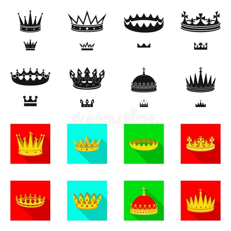 Dise?o del vector de icono medieval y de la nobleza Colecci?n de ejemplo com?n medieval y de la monarqu?a del vector ilustración del vector
