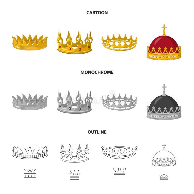 Dise?o del vector de icono medieval y de la nobleza Colecci?n de icono medieval y de la monarqu?a del vector para la acci?n ilustración del vector