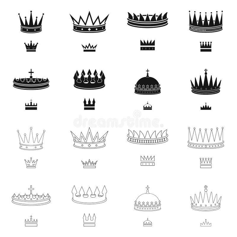 Dise?o del vector de icono medieval y de la nobleza Colecci?n de icono medieval y de la monarqu?a del vector para la acci?n stock de ilustración
