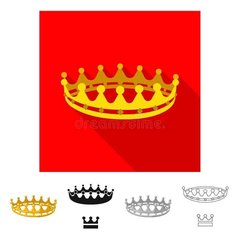 Dise?o del vector de icono medieval y de la nobleza Colecci?n de s?mbolo com?n medieval y de la monarqu?a para la web stock de ilustración