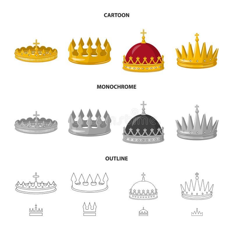 Dise?o del vector de icono medieval y de la nobleza Colecci?n de s?mbolo com?n medieval y de la monarqu?a para la web libre illustration