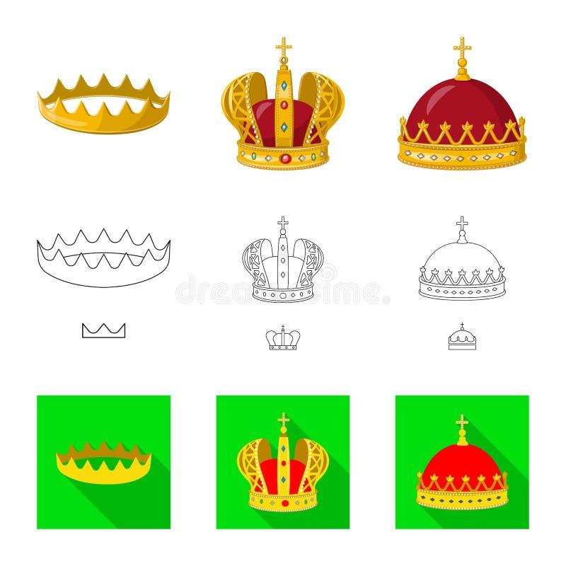 Dise?o del vector de icono medieval y de la nobleza Colecci?n de s?mbolo com?n medieval y de la monarqu?a para la web ilustración del vector