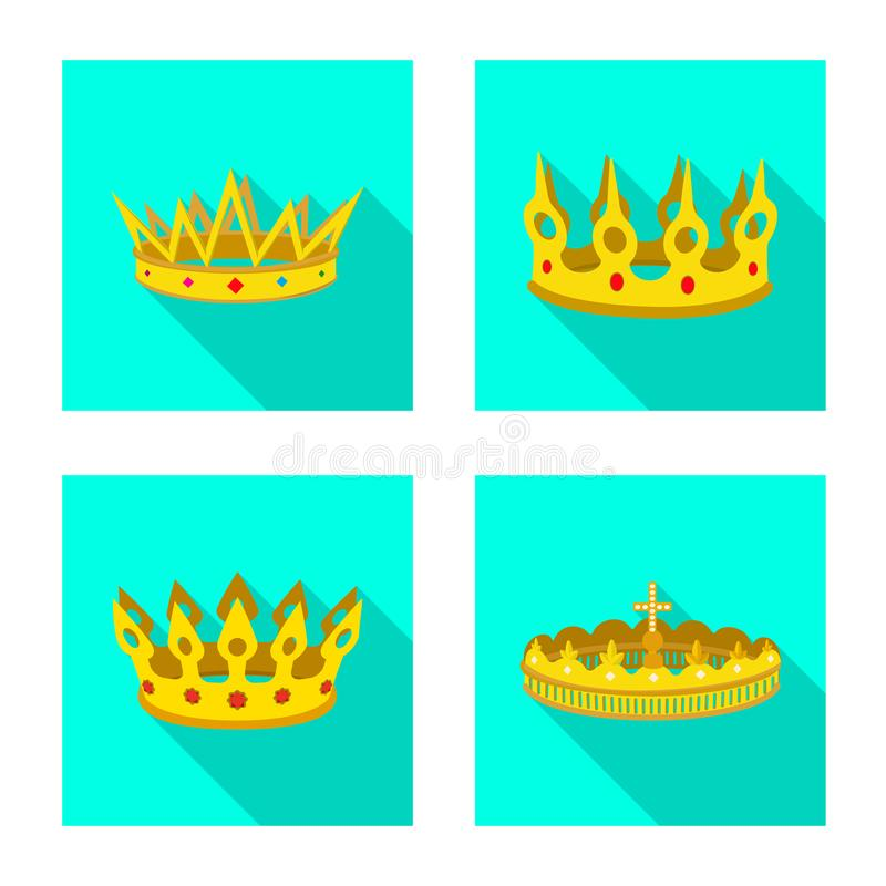 Dise?o del vector de icono medieval y de la nobleza Fije del ejemplo com?n medieval y de la monarqu?a del vector ilustración del vector